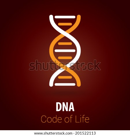 DNA / Biotechnology Background with Minimalist, Flat & Retro Style