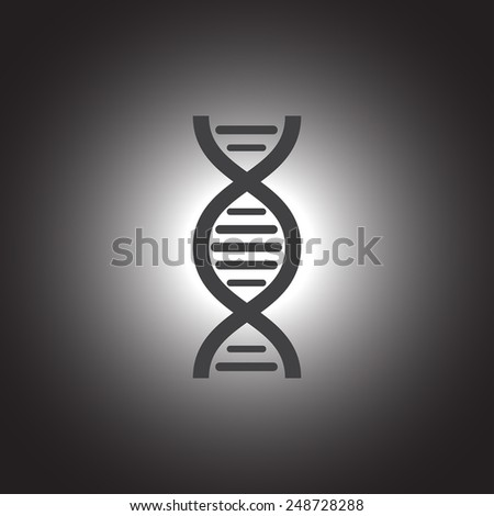 dna chain vector icon - stock vector