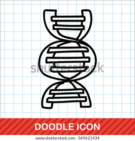 DNA color doodle - stock vector
