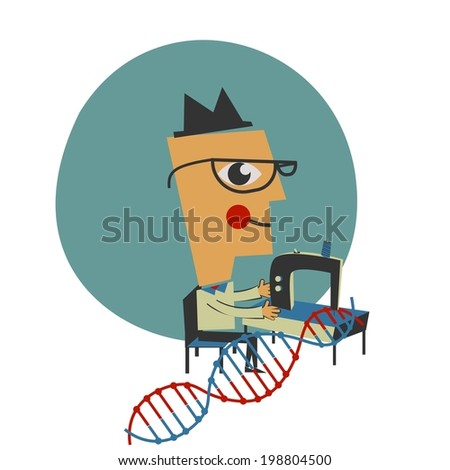 DNA manufacturing - stock vector