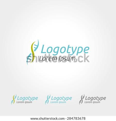 DNA medical logo - stock vector