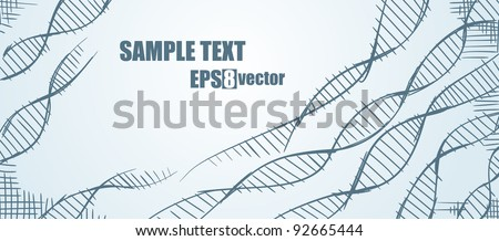DNA. Molecule - stock vector