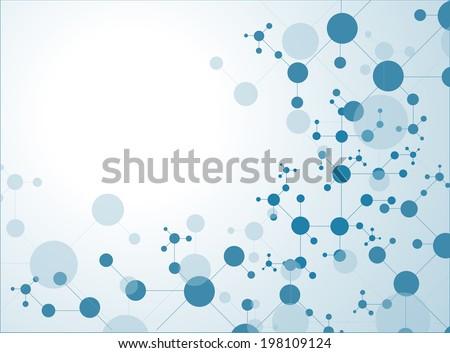 DNA molecule structure background. eps10 vector illustration  - stock vector