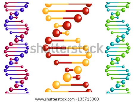 DNA molecule with elements for biology or medicine concept design. Jpeg (bitmap) version also available in gallery - stock vector