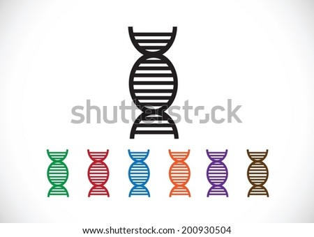 Dna sign synbol icon