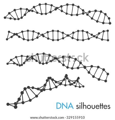 DNA symbols. Set of science symbols. - stock vector
