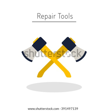 Do yourself construction repair tools flat vector de stock391497139 do it yourself construction repair tools flat logo isolated tools flat home renovation solutioingenieria Gallery