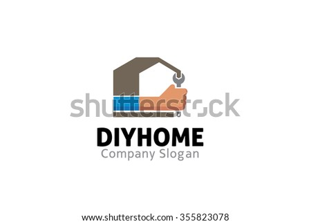 Computer logo stock vector 432378982 shutterstock do it yourself home wrench logo symbol design illustration solutioingenieria Choice Image