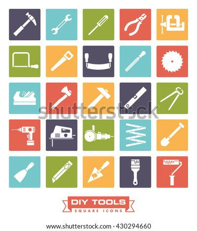 Do it yourself icon stock images royalty free images vectors do it yourself tools icon set collection of diy and crafting related vector symbols in solutioingenieria Images
