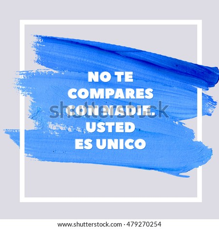 We have two options either forward stock vector 479270179 shutterstock do not compare yourself with anyone you are unique spanish motivation blue square acrylic solutioingenieria Image collections