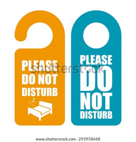 Do not disturb. Door hanger - stock vector