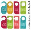 do not disturb door hanger set - stock photo