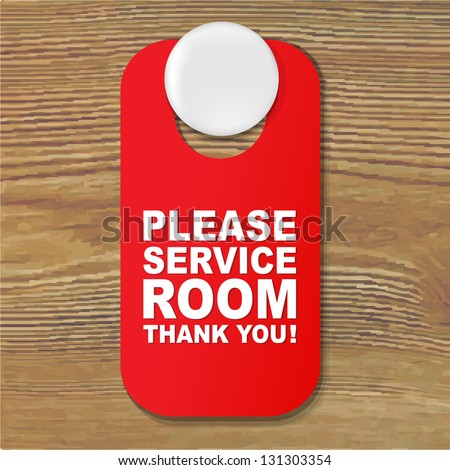 Do Not Disturb Red Sign With Gradient Mesh, Vector Illustration - stock vector