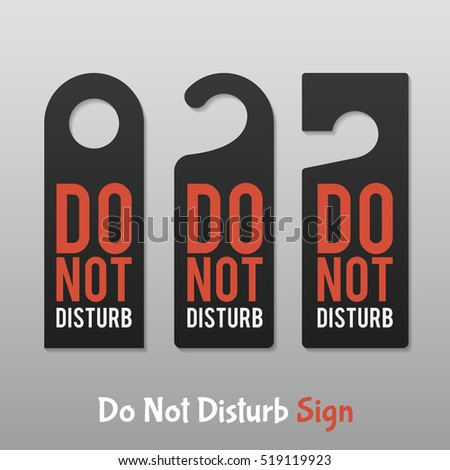 do not disturb sign for office
