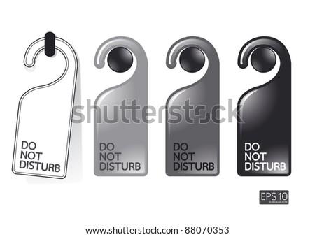 do not disturb vector - stock vector