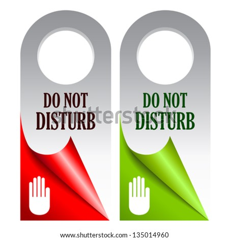 Do not disturb vector cards - stock vector