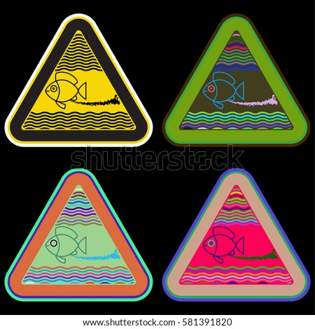 Forbidden take fish do not allow certain stock vector for Do fish drink water
