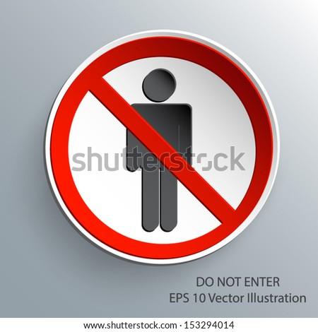 do not enter sign 3d paper design eps 10 vector illustration - stock vector