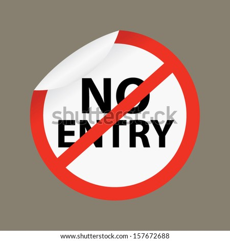 Do Not Enter Sign on gray background, Vector.