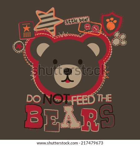 Do Not Feed the Bears Baby Boys Tshirt Graphic