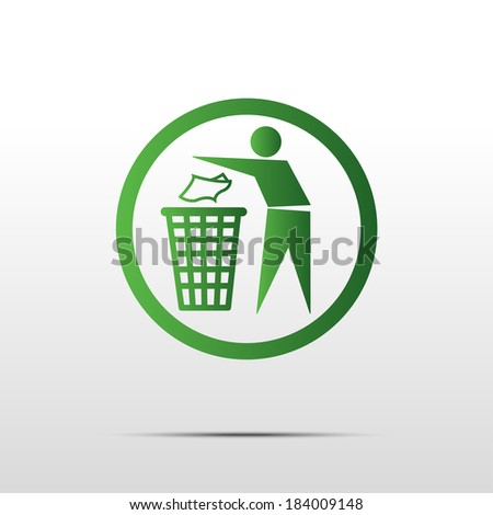 Do not litter, vector sign  - stock vector