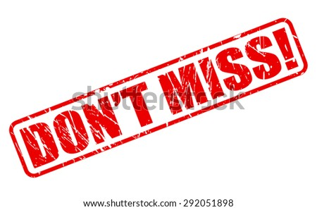 Do not miss red stamp text on white - stock vector