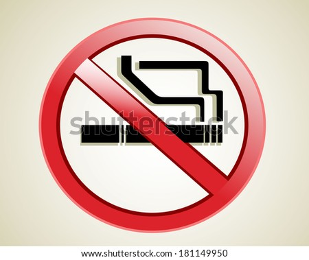 Do not smoke sign - stock vector