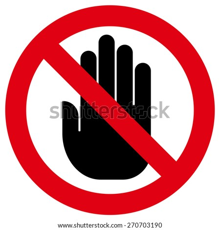 Do not touch icon - stock vector