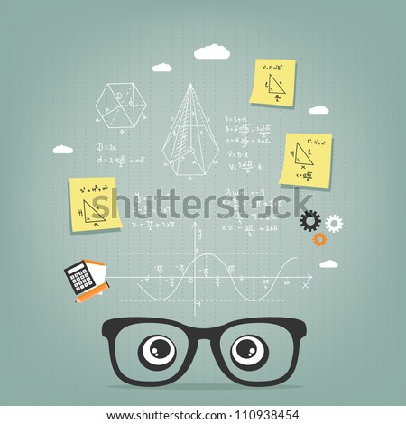do the math - stock vector