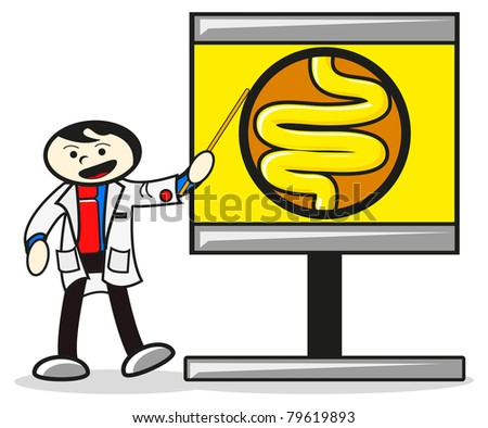 doctor and anatomy - stock vector