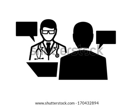Doctor and patient dialog - stock vector