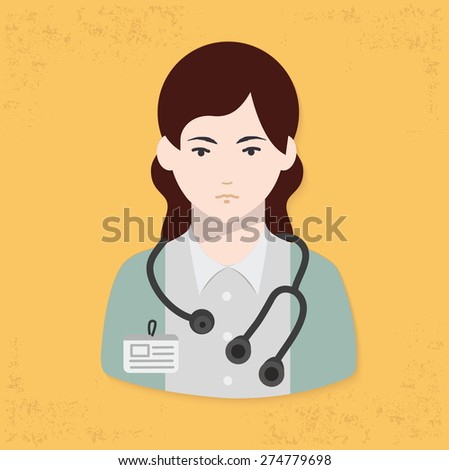 Doctor design on yellow background,clean vector - stock vector
