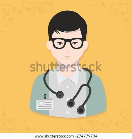 Doctor design on yellow background,clean vector - stock vector