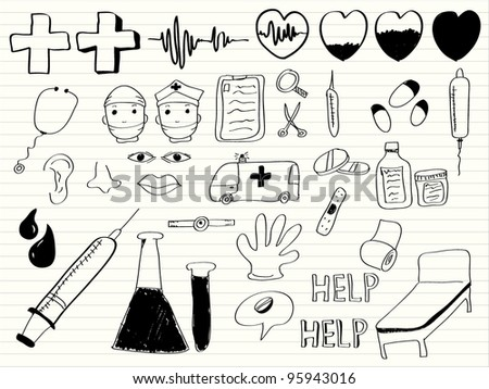 doctor element,hand draw - stock vector