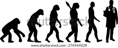 Doctor Evolution - stock vector