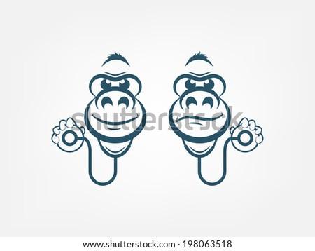Doctor Gorilla - stock vector