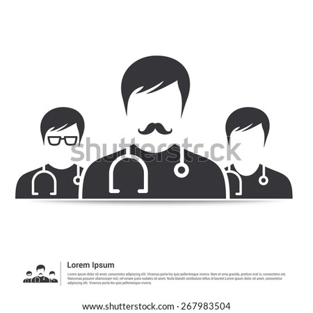 Doctor Group icon Health Care Medical icon vector illustration - stock vector