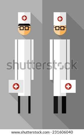 Doctor icons. Vector illustration. - stock vector