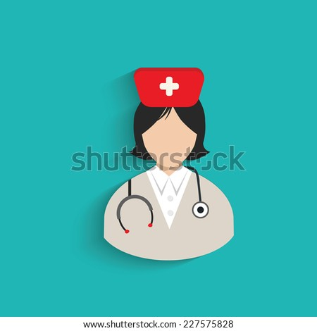 Doctor symbol on blue background,clean vector - stock vector