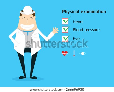 Doctor with physical examination medical. - stock vector