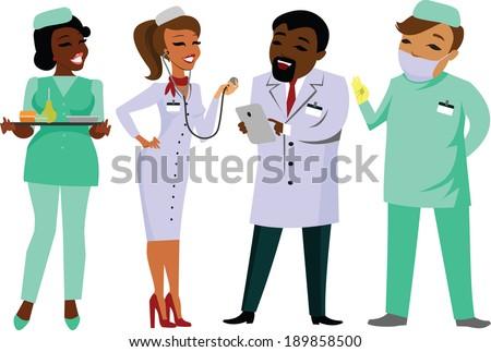 Doctors  - stock vector
