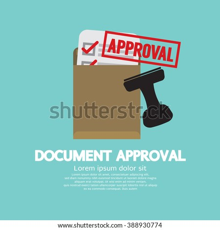 Document Approval Stamp Vector Illustration