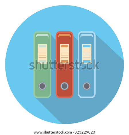 document box flat icon in circle
