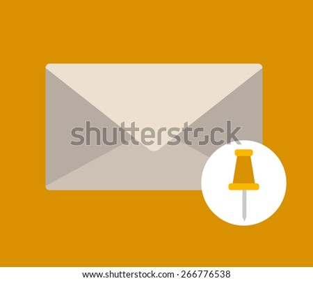 Document  design over yellow background, vector illustration - stock vector