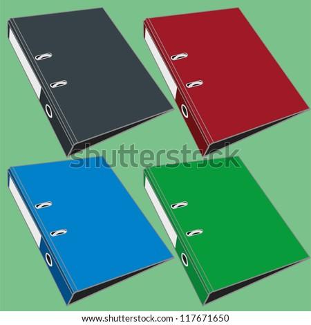 document file folder vector - stock vector