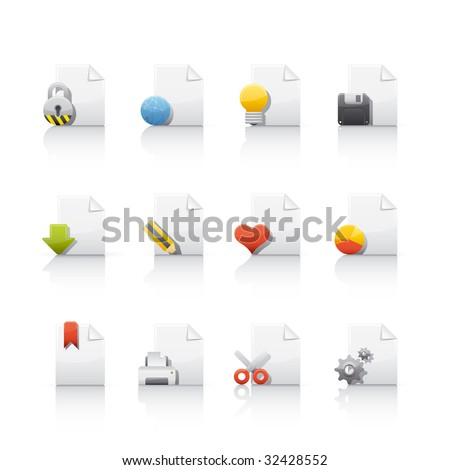 Document Files Icon Set