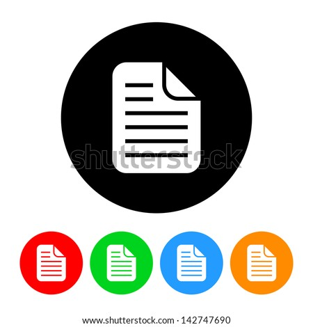 Document Icon - stock vector