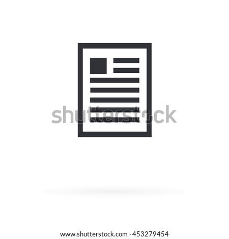 Document Icon - stock vector