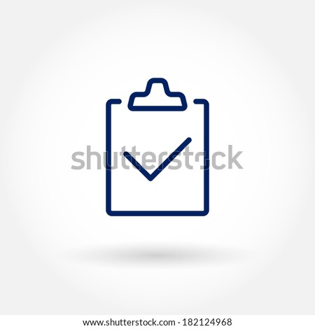 Document Icon. Modern icons for mobile interface. Fine line pixel aligned mobile ui icons with variable line width. Vector illustration. - stock vector