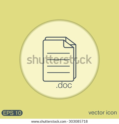 document icon paper sheet - stock vector